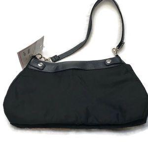 Thirty-One Suite Skirt Purse Black NWT three hook
